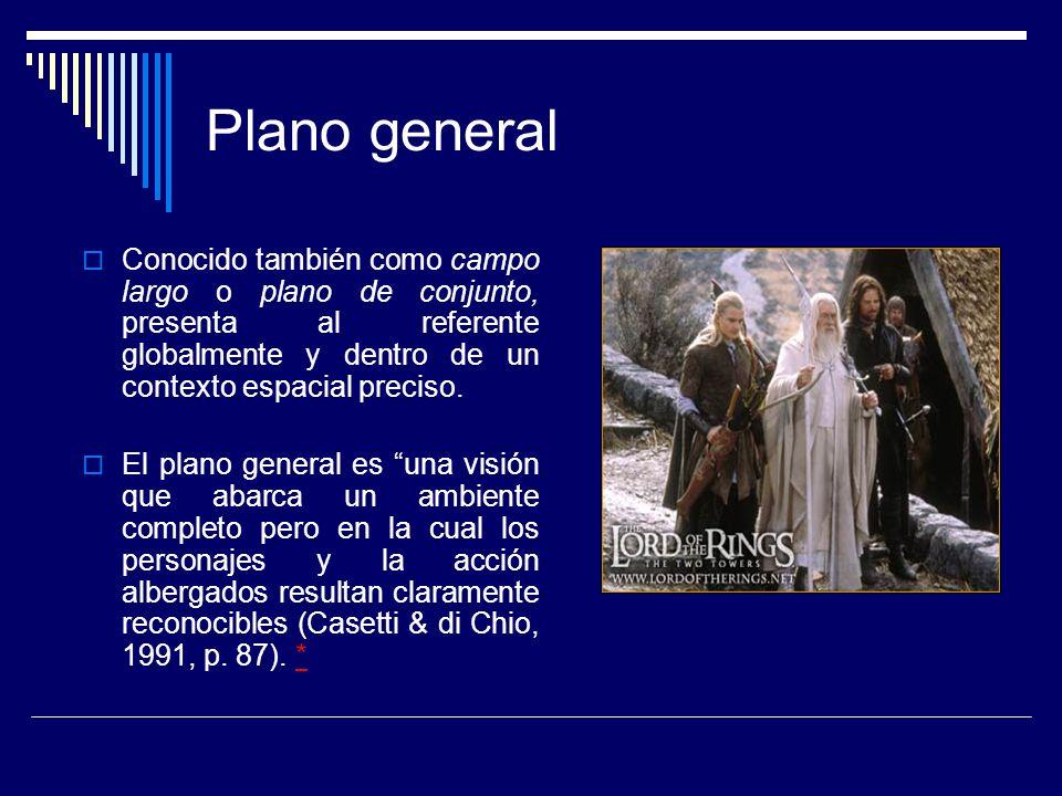 Plano americano Deriva su nombre de su uso frecuente en la narrativa clásica del cine (norte) americano.