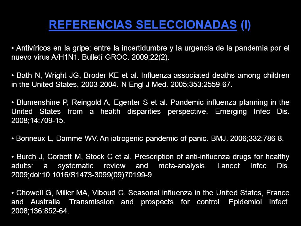 DOCUMENTO TÉCNICO/POLÍTICO: * Carta abierta a la Ministra de Sanidad española Trinidad Jiménez. Gérvas, J. [Notas clínicas]. 28 de agosto de 2009. htt