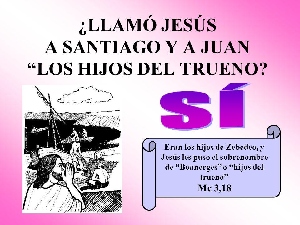 ¿LLAMÓ JESÚS A SANTIAGO Y A JUAN LOS HIJOS DEL TRUENO.