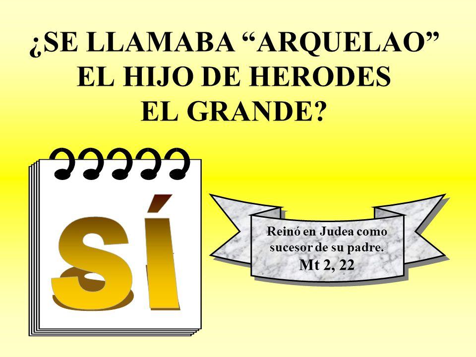 ¿SE LLAMABA ARQUELAO EL HIJO DE HERODES EL GRANDE.