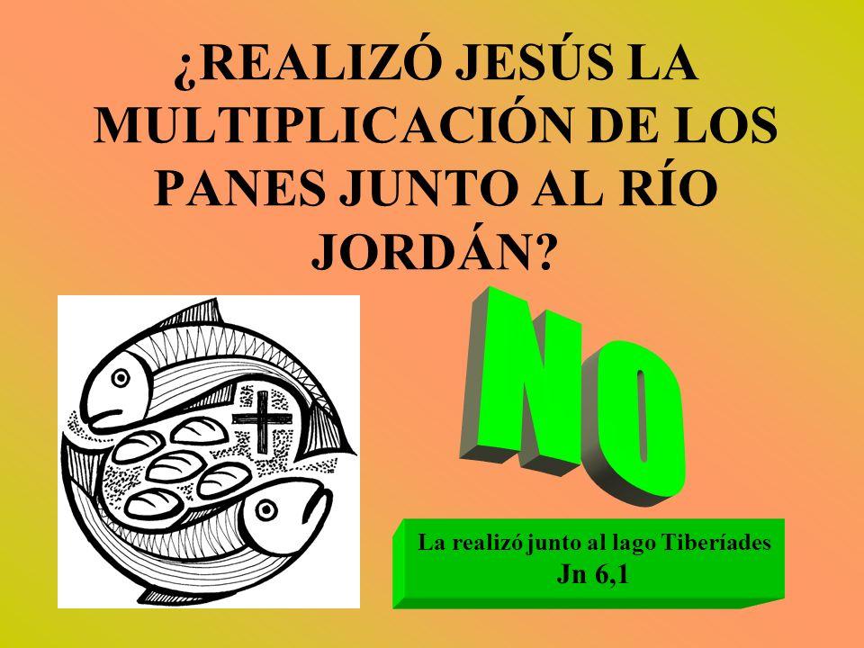¿REALIZÓ JESÚS LA MULTIPLICACIÓN DE LOS PANES JUNTO AL RÍO JORDÁN? La realizó junto al lago Tiberíades Jn 6,1