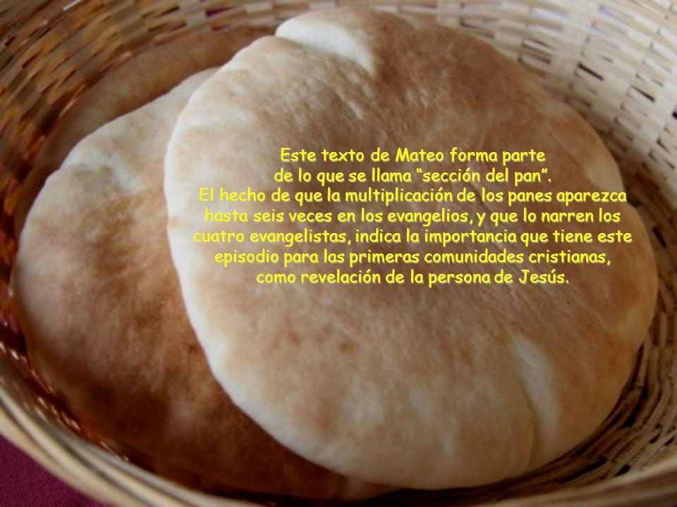 Este texto de Mateo forma parte de lo que se llama sección del pan.