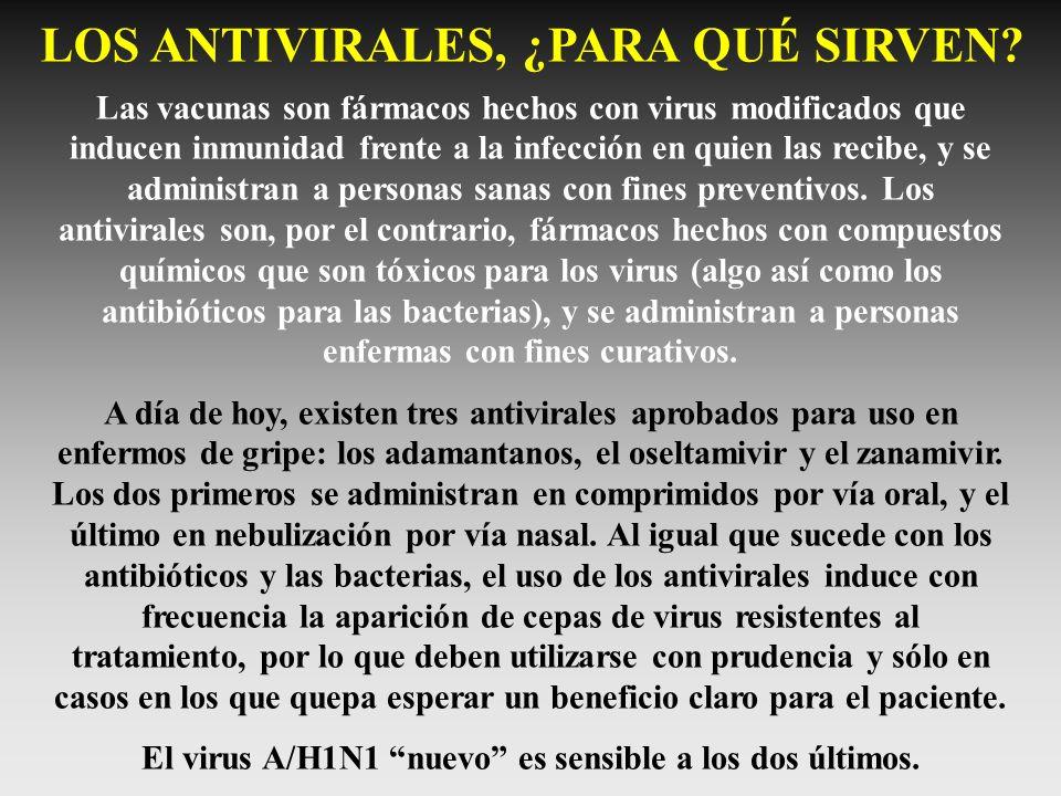 LOS ANTIVIRALES, ¿PARA QUÉ SIRVEN? Las vacunas son fármacos hechos con virus modificados que inducen inmunidad frente a la infección en quien las reci