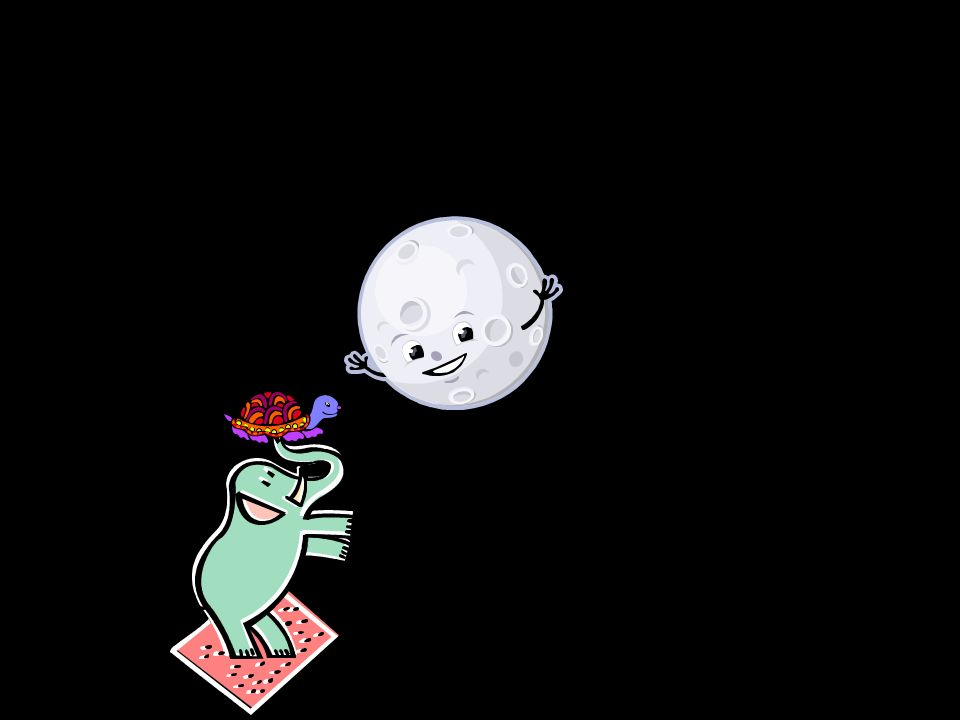 La traviesa luna jugar quería Cuanto más se alejaba más se divertía.