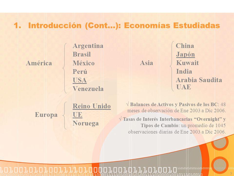 3 Argentina Brasil América México Perú USA Venezuela Reino Unido Europa UE Noruega 1.