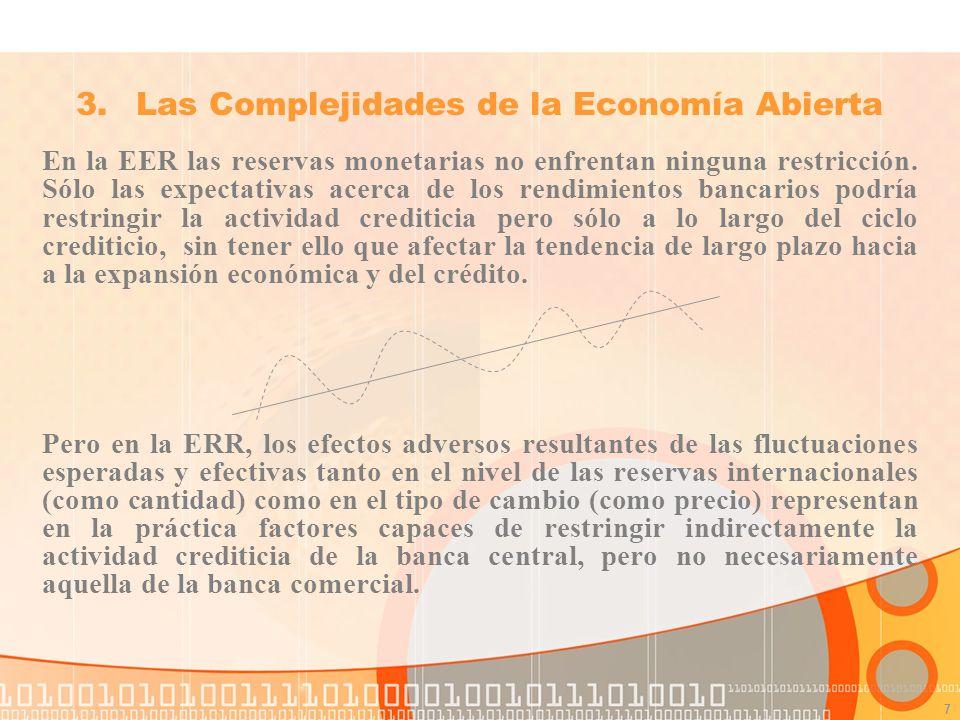7 En la EER las reservas monetarias no enfrentan ninguna restricción.