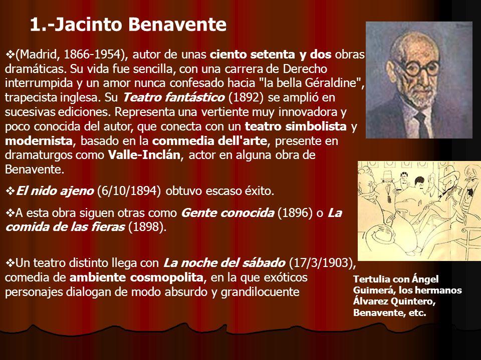 4.3 La crítica social encuentra eco en el gallego Manuel Linares Rivas (1867-1938) Cultiva un teatro decimonónico, calificado algunas veces como naturalista.