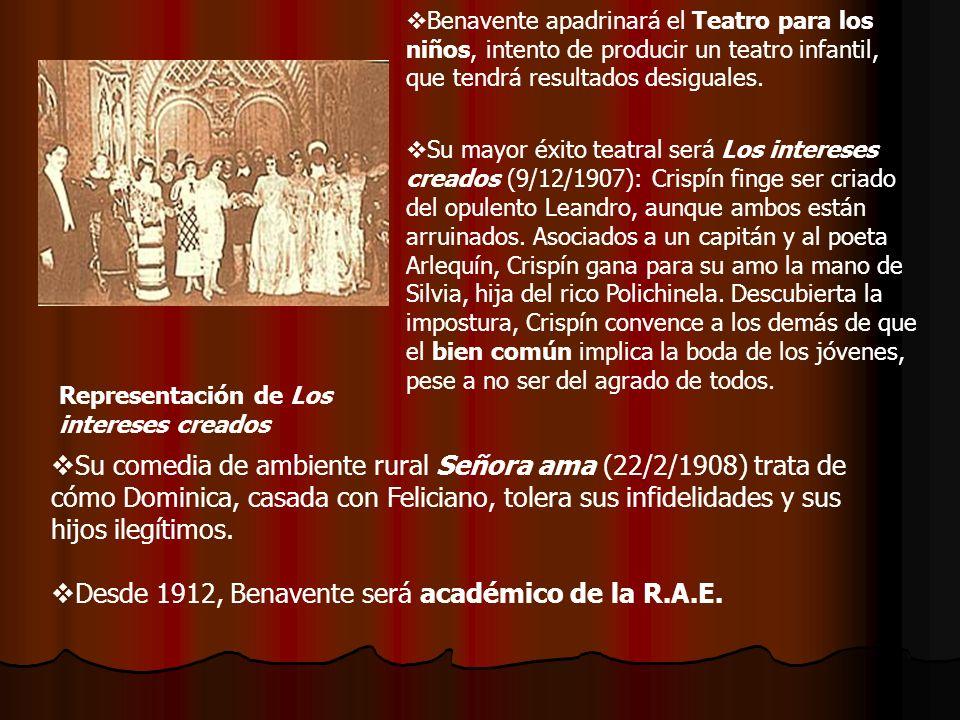 Al año siguiente, estrena el drama rural La malquerida (1913), sobre los oscuros amores de Acacia y su padrastro, que asesina secretamente al novio de aquélla.