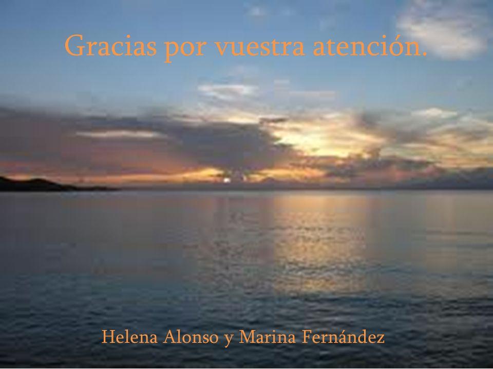 Gracias por vuestra atención. Helena Alonso y Marina Fernández