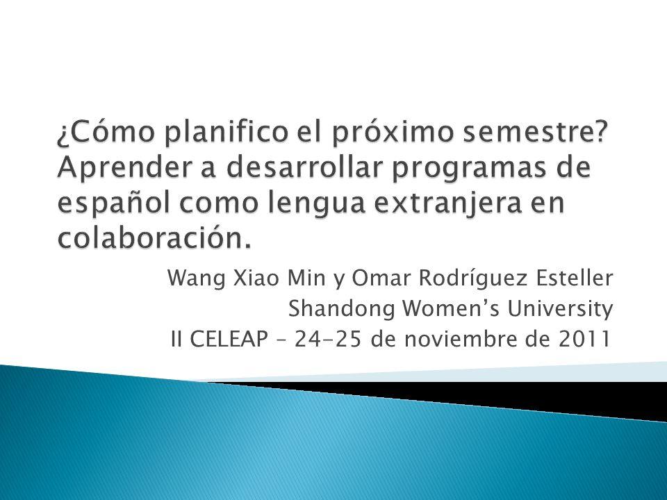 Wang Xiao Min y Omar Rodríguez Esteller Shandong Womens University II CELEAP – 24-25 de noviembre de 2011
