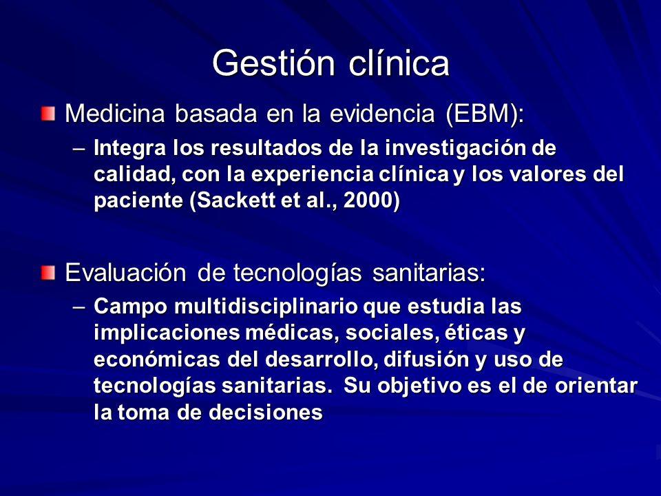 Medicina basada en la evidencia (EBM): –Integra los resultados de la investigación de calidad, con la experiencia clínica y los valores del paciente (