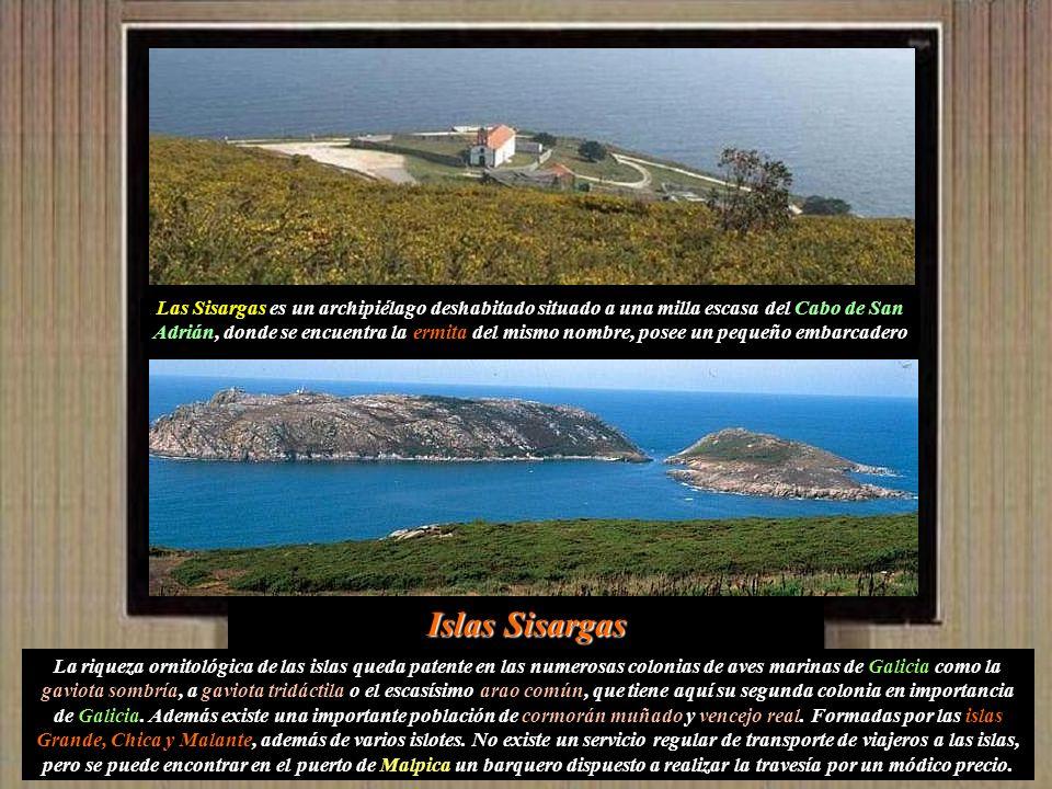Y en la parroquia de San Xián de Brántuas el monte de O Faro a 231 metros de altura.
