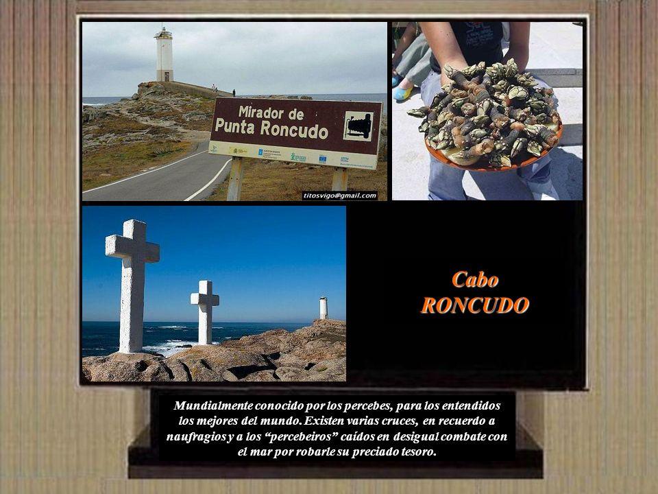 Salimos de Muxía bordeando la costa y en la aldea de O Seixo giramos a la derecha para llegar a Cabo Touriñán: Una punta de lanza que penetra 1 kms en el mar, mostrando sus escarpados acantilados en sus aledaños.
