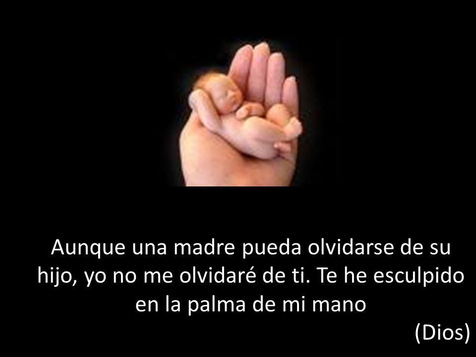Aunque una madre pueda olvidarse de su hijo, yo no me olvidaré de ti.