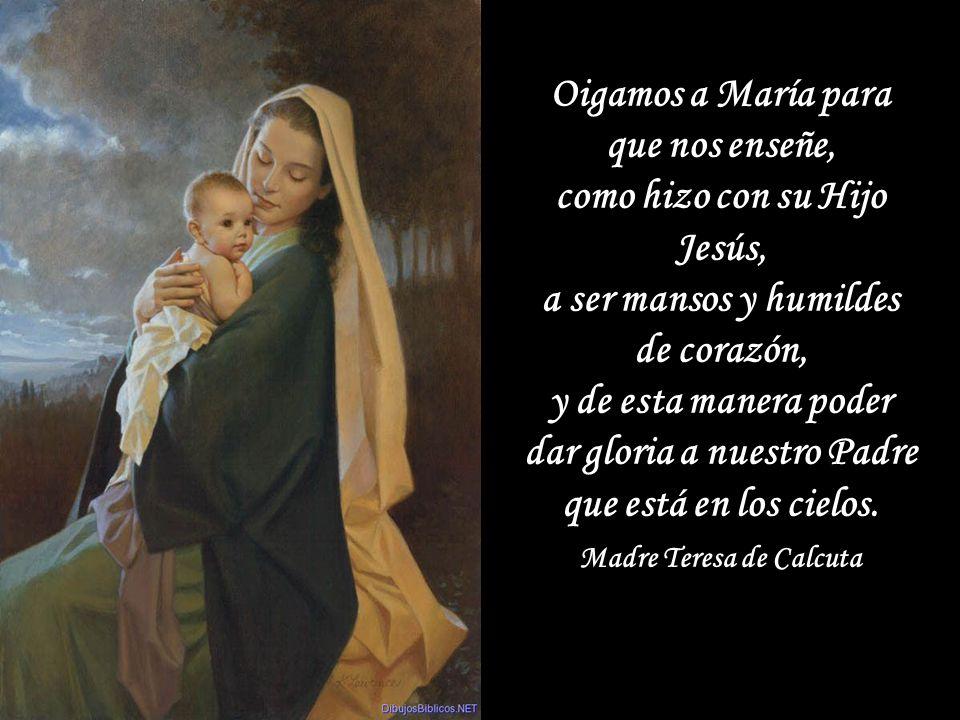Mundo de santos: a eso estamos llamados. Y esa ha sido siempre la misión de María con Jesús, tal vez por eso que su presencia incluso sensible en medi