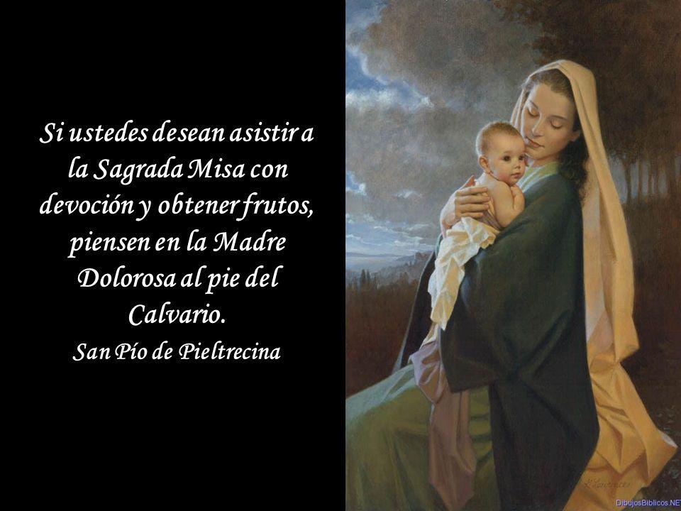 Si se levanta la tempestad de las tentaciones, si caes en el escollo de las tristezas, eleva tus ojos a la estrella del Mar: ¡invoca a María!.