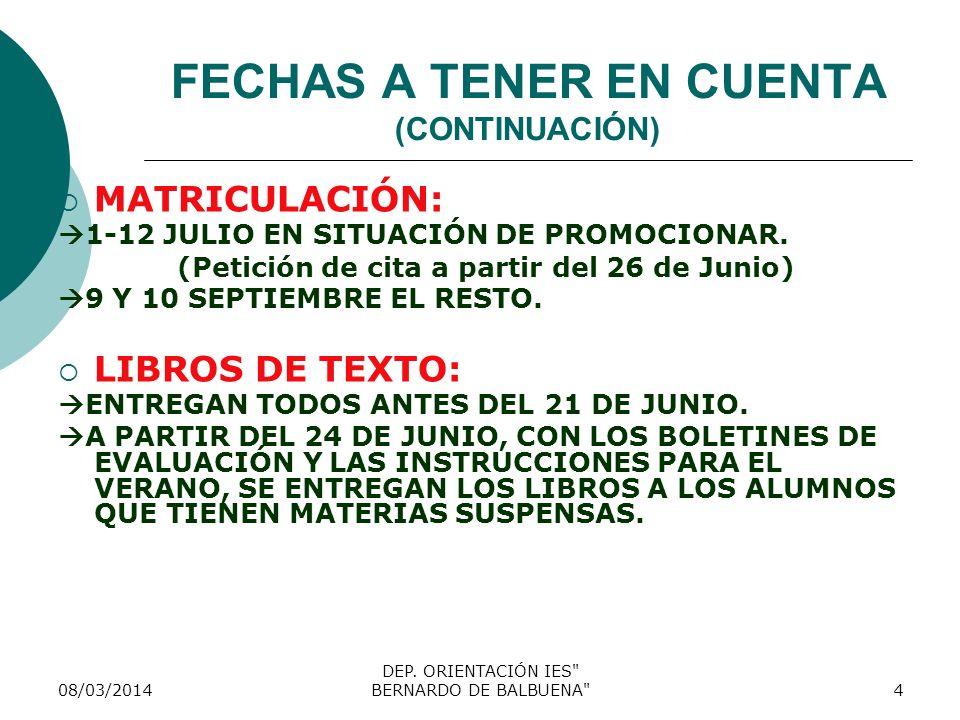 OPCIONES ACADÉMICAS DESDE 3º DE ESO.A) Promoción a 4º de ESO.