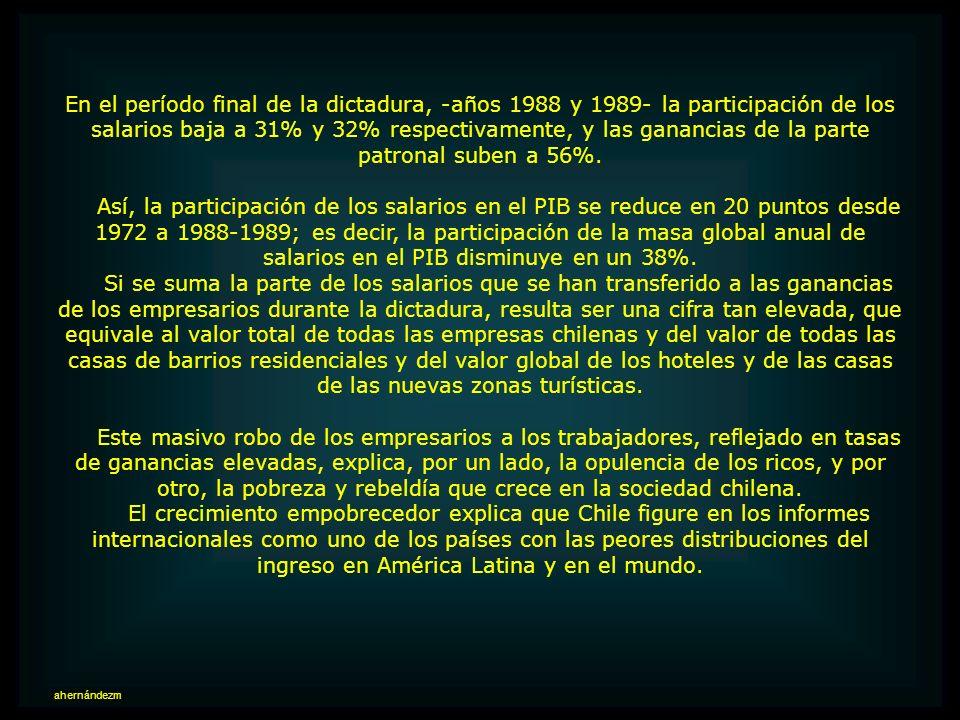 Desafío para el gobierno de Allende, se planteó como tarea principal mejorar la distribución del ingreso incrementando la participación de los salario