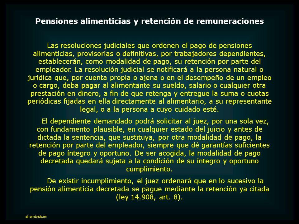EMBARGO DE REMUNERACIONES Pensiones alimenticias Puede embargarse hasta el 50 por ciento de las remuneraciones en caso de pensiones alimenticias debid