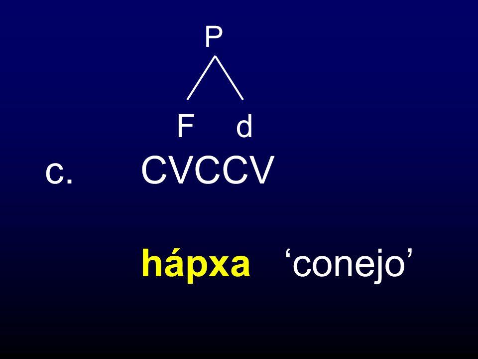 c.CVCCV hápxa conejo P Fd