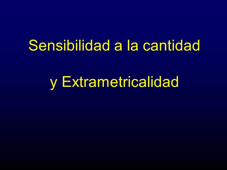 Sensibilidad a la cantidad y Extrametricalidad