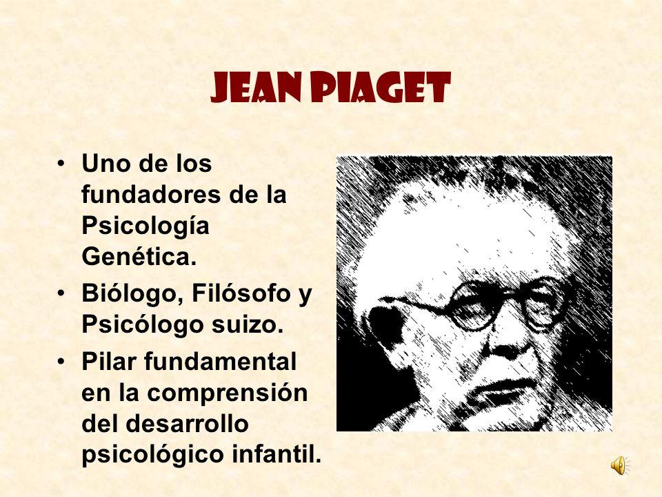 Jean Piaget Uno de los fundadores de la Psicología Genética. Biólogo, Filósofo y Psicólogo suizo. Pilar fundamental en la comprensión del desarrollo p