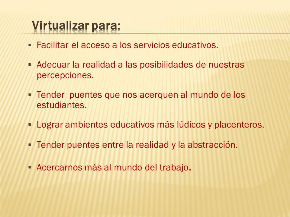 Facilitar el acceso a los servicios educativos.
