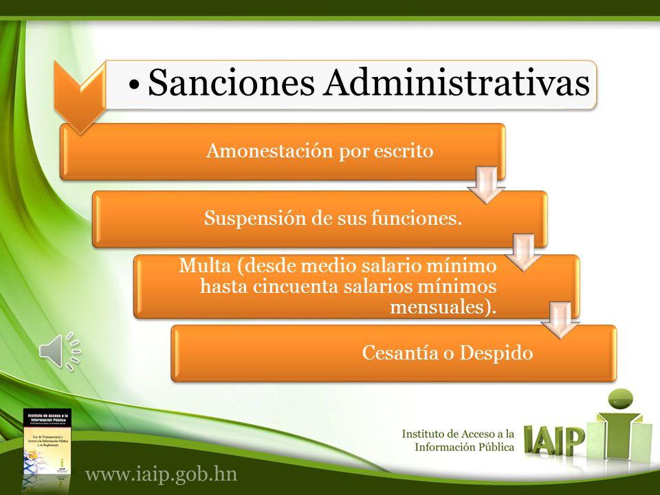Amonestación por escritoSuspensión de sus funciones.