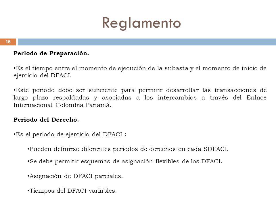 Reglamento 16 Periodo de Preparación.