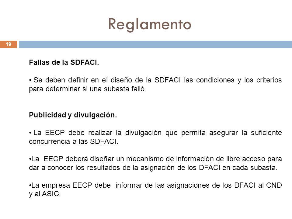 Reglamento 19 Fallas de la SDFACI.