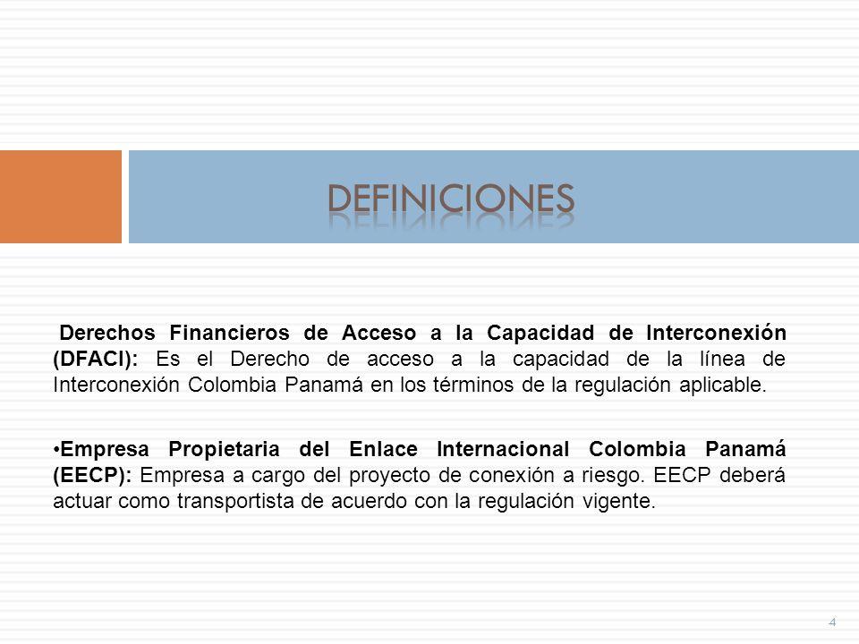 Participantes 15 Los agentes habilitados a participar en las SDFACI son: Los generadores, y los comercializadores en Colombia.