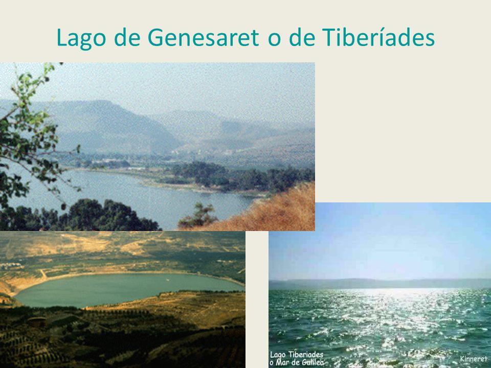 Lago de Genesaret o de Tiberíades
