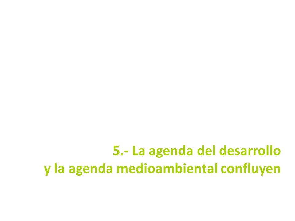 5.- La agenda del desarrollo y la agenda medioambiental confluyen