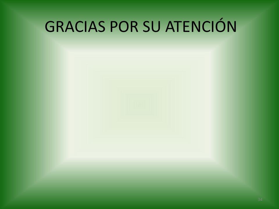 GRACIAS POR SU ATENCIÓN 34