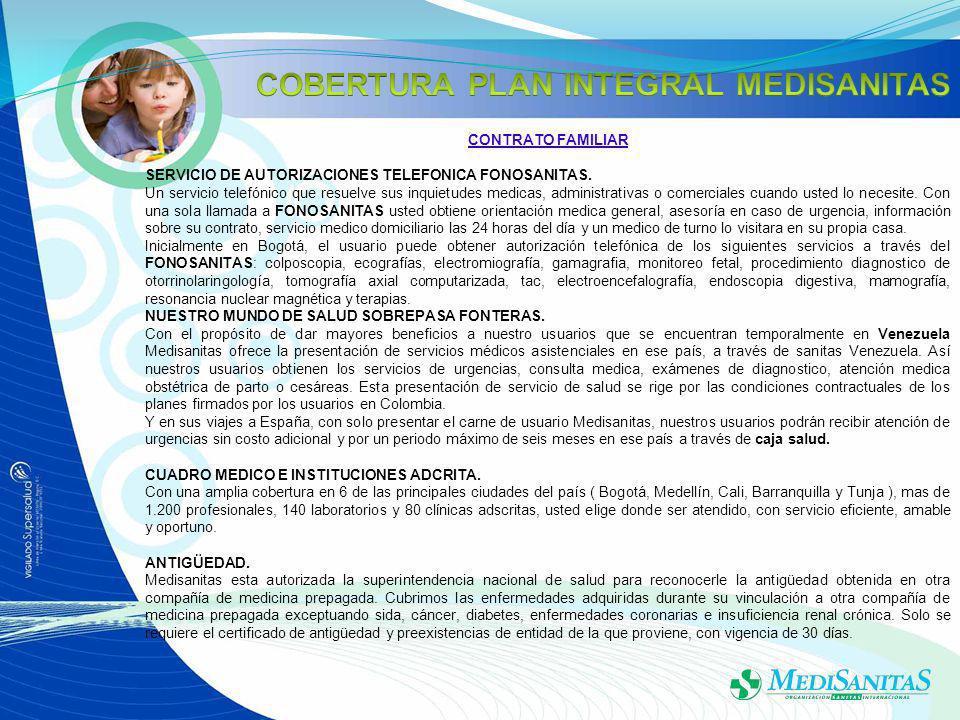 CONTRATO FAMILIAR SERVICIO DE AUTORIZACIONES TELEFONICA FONOSANITAS.
