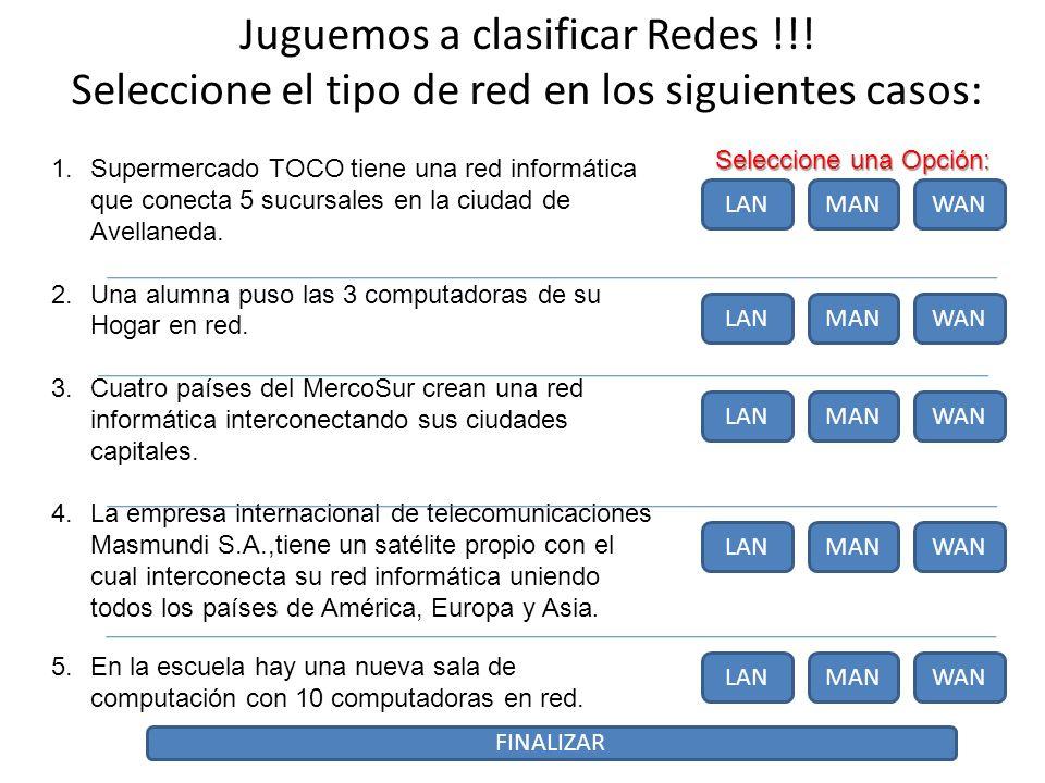 Juguemos a clasificar Redes !!.