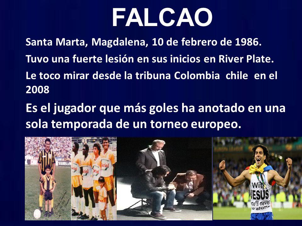 FALCAO Santa Marta, Magdalena, 10 de febrero de 1986.