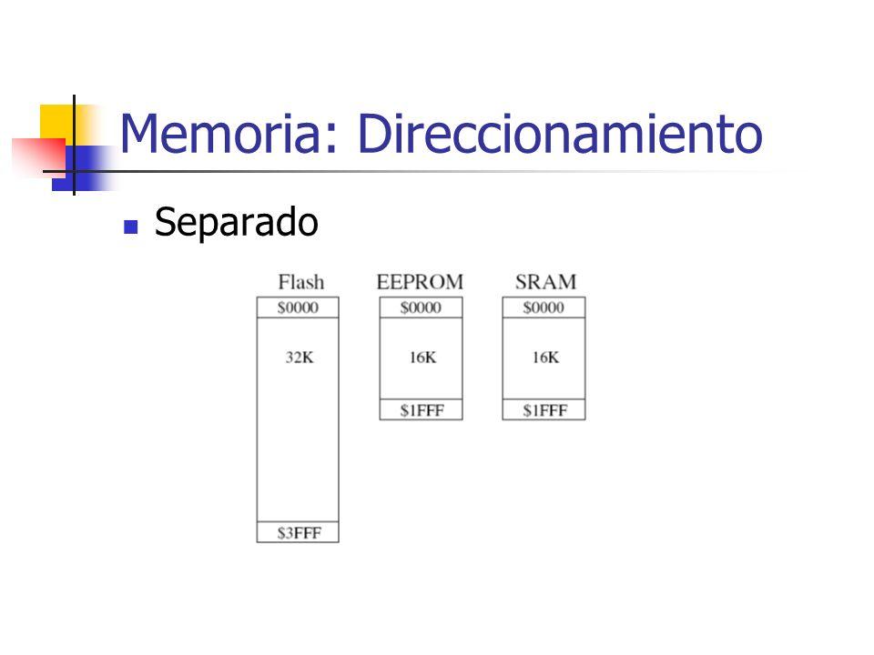 Memoria: Direccionamiento Separado