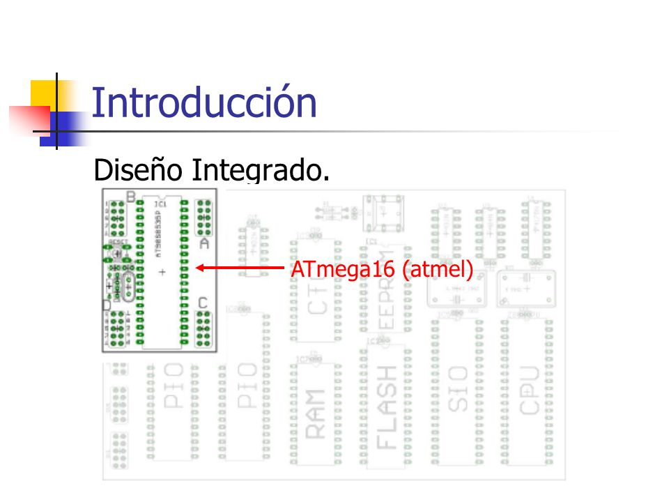 Introducción Diseño Integrado. ATmega16 (atmel)