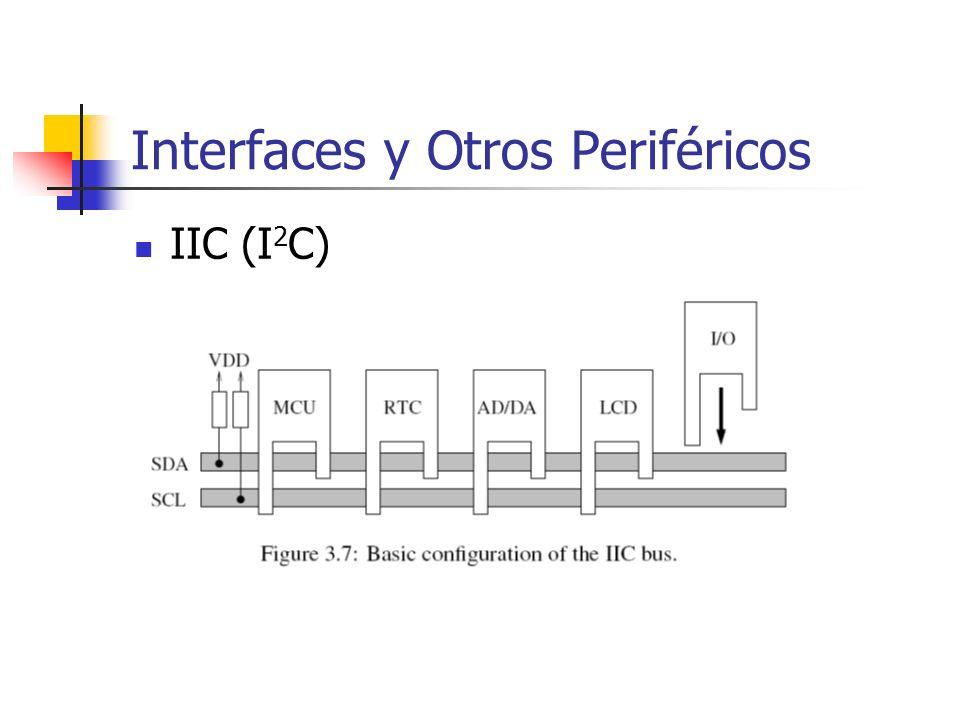 Interfaces y Otros Periféricos IIC (I 2 C)