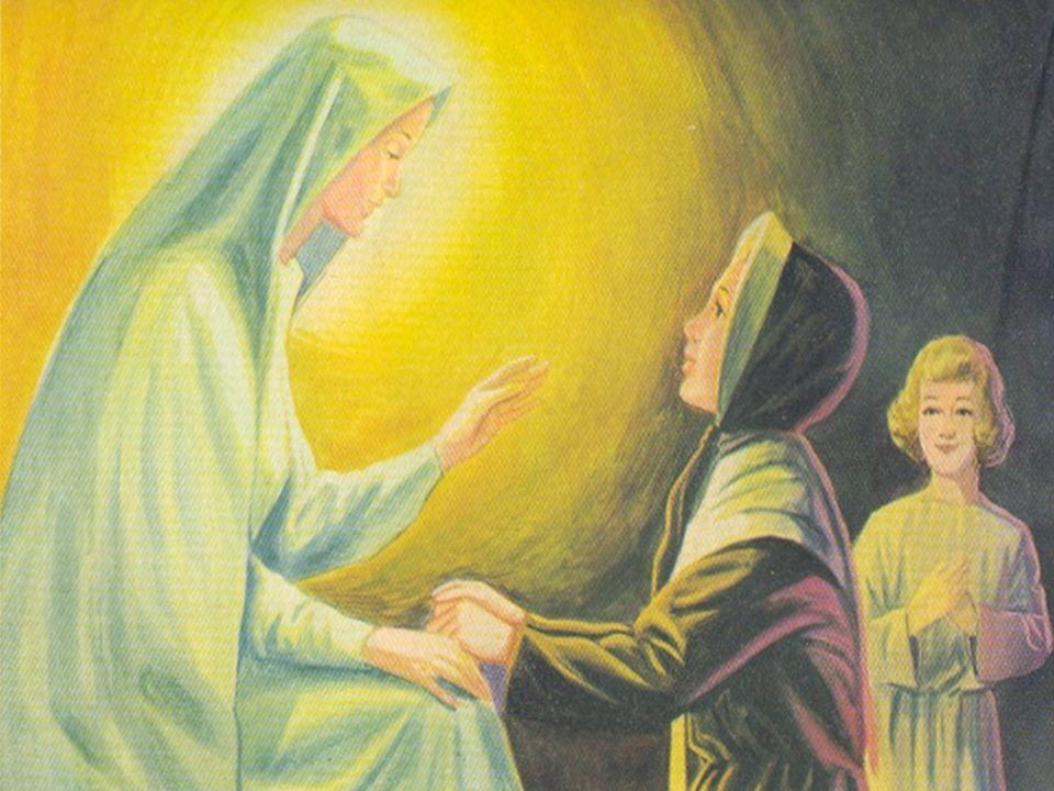 Vi a la Santísima Virgen, de un salto me puse a su lado, de rodillas en las gradas del altar, con las manos apoyadas en su regazo ese fue el momento m