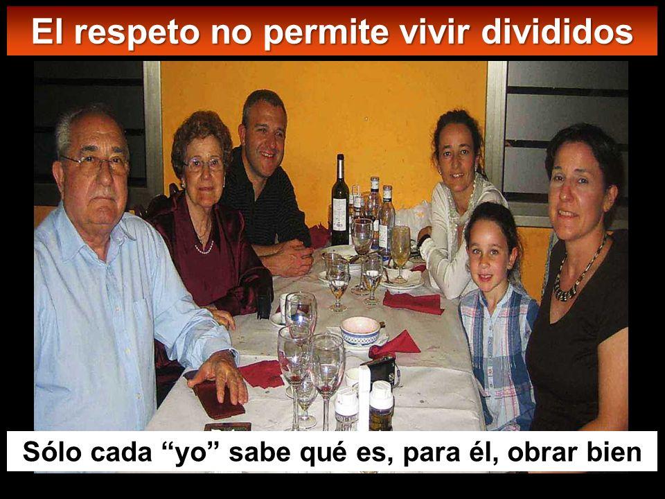 En adelante, una familia de cinco estará dividida: tres contra dos y dos contra tres; estarán divididos el padre contra el hijo y el hijo contra el pa