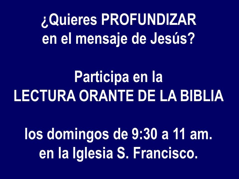 ¿Entende- mos qué actitudes de conversión pide, HOY, el evangelio? La biblia no es para adornar, sino para vivir No clic