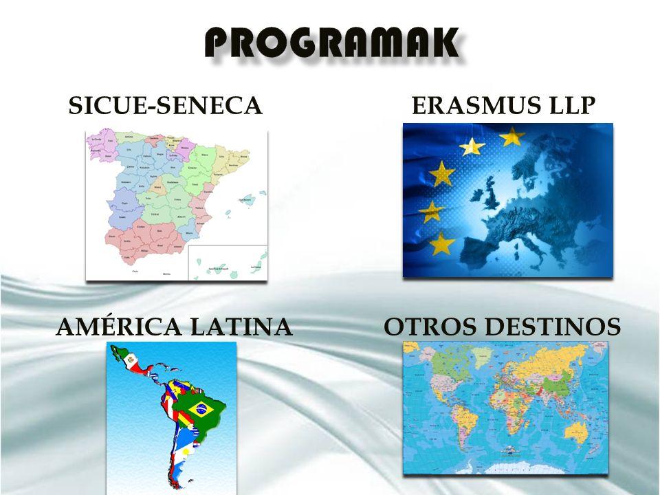 SICUE-SENECA ERASMUS LLP AMÉRICA LATINA OTROS DESTINOS