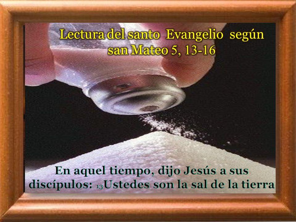 I. LECTIO ¿ Qué dice el texto? – Mateo 5, 13-16