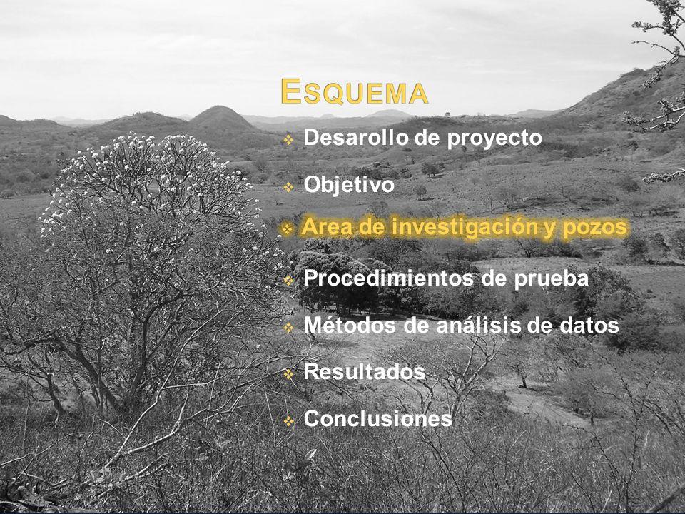 Desarollo de proyecto Objetivo Procedimientos de prueba Métodos de análisis de datos Resultados Conclusiones