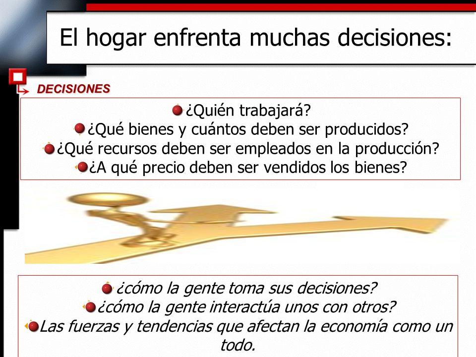 Los diez principios de la economía 1.La gente se enfrenta a decisiones.
