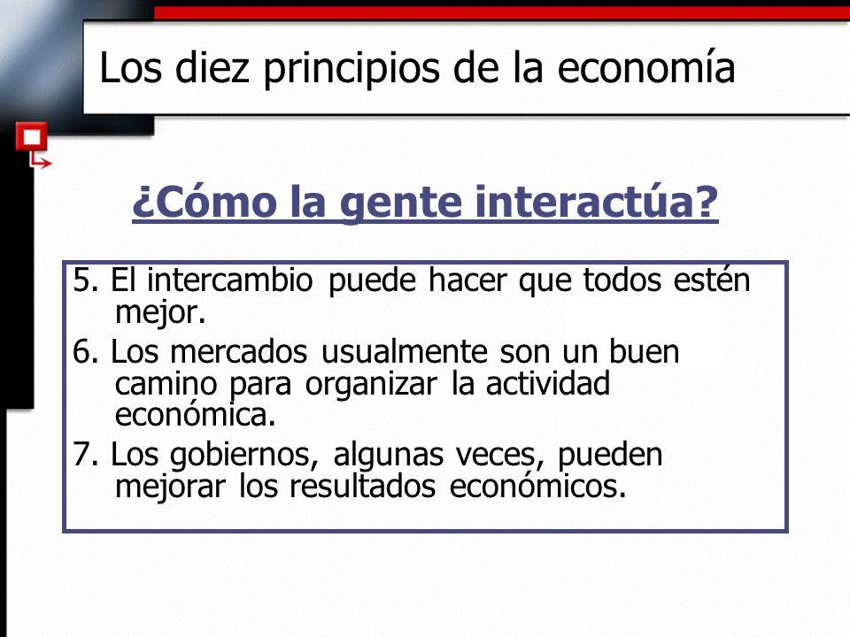6.Los mercados son, generalmente, el mejor camino para organizar la actividad económica.