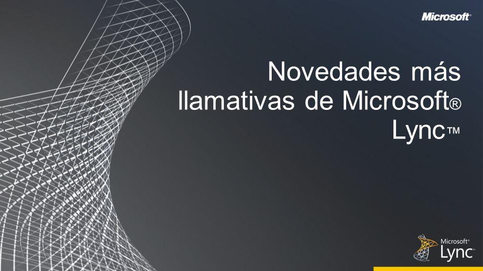 Novedades más llamativas de Microsoft ® Lync
