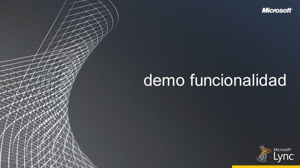 demo funcionalidad